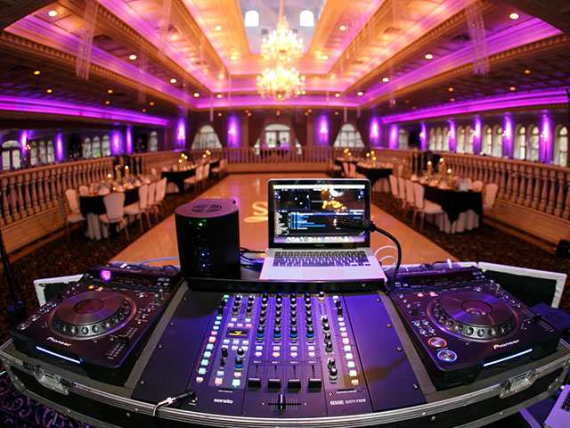 1-800-Jam-Music Wedding DJ Setup