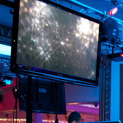 NJ Wedding DJ Entertainment Video Screens and LED TVs
